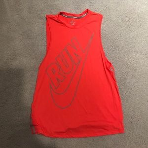 Coral Nike Running Muscle Tee